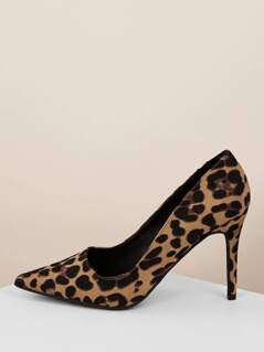 Leopard Pointed Toe Classic Stiletto Heel Pumps
