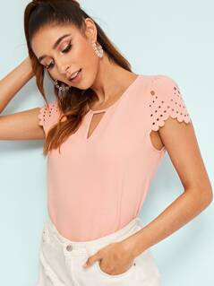 Laser Cut Scalloped Solid Top