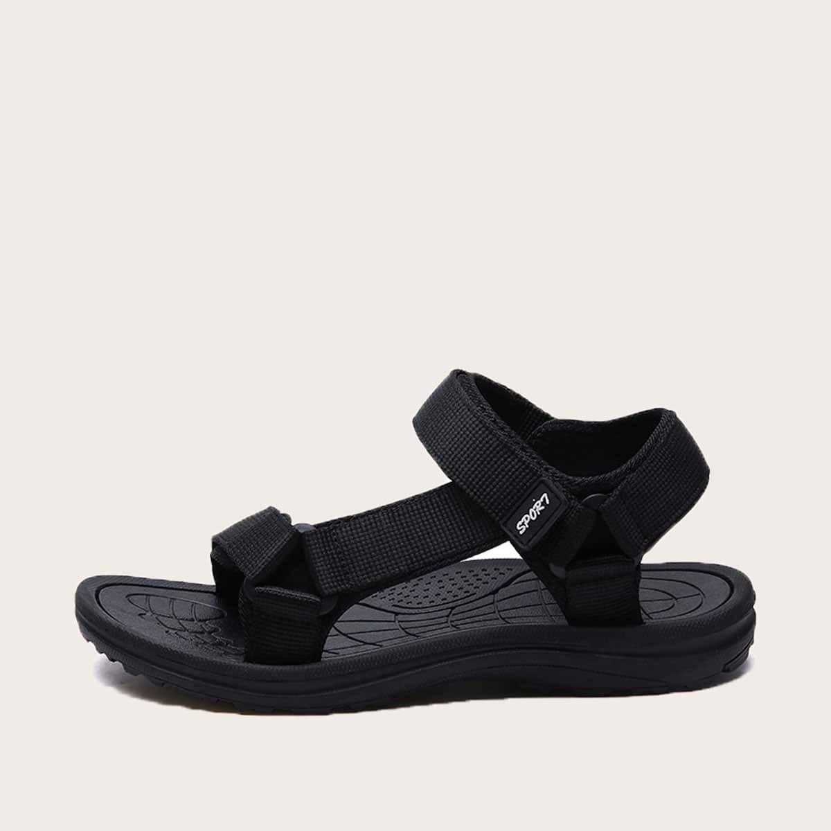 Opengewerkte klittenband-sandalen voor heren
