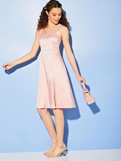Фото 6 - Платье в горошек на кулиске с пуговицами от SheIn цвет жёлтые