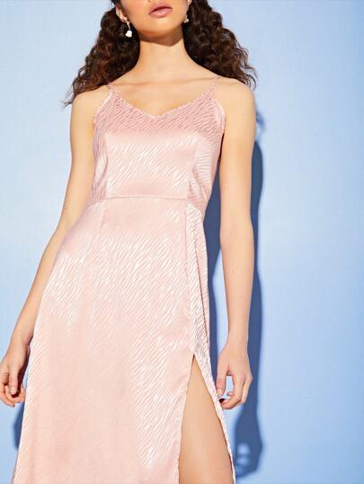 Фото 5 - Платье в горошек на кулиске с пуговицами от SheIn цвет жёлтые