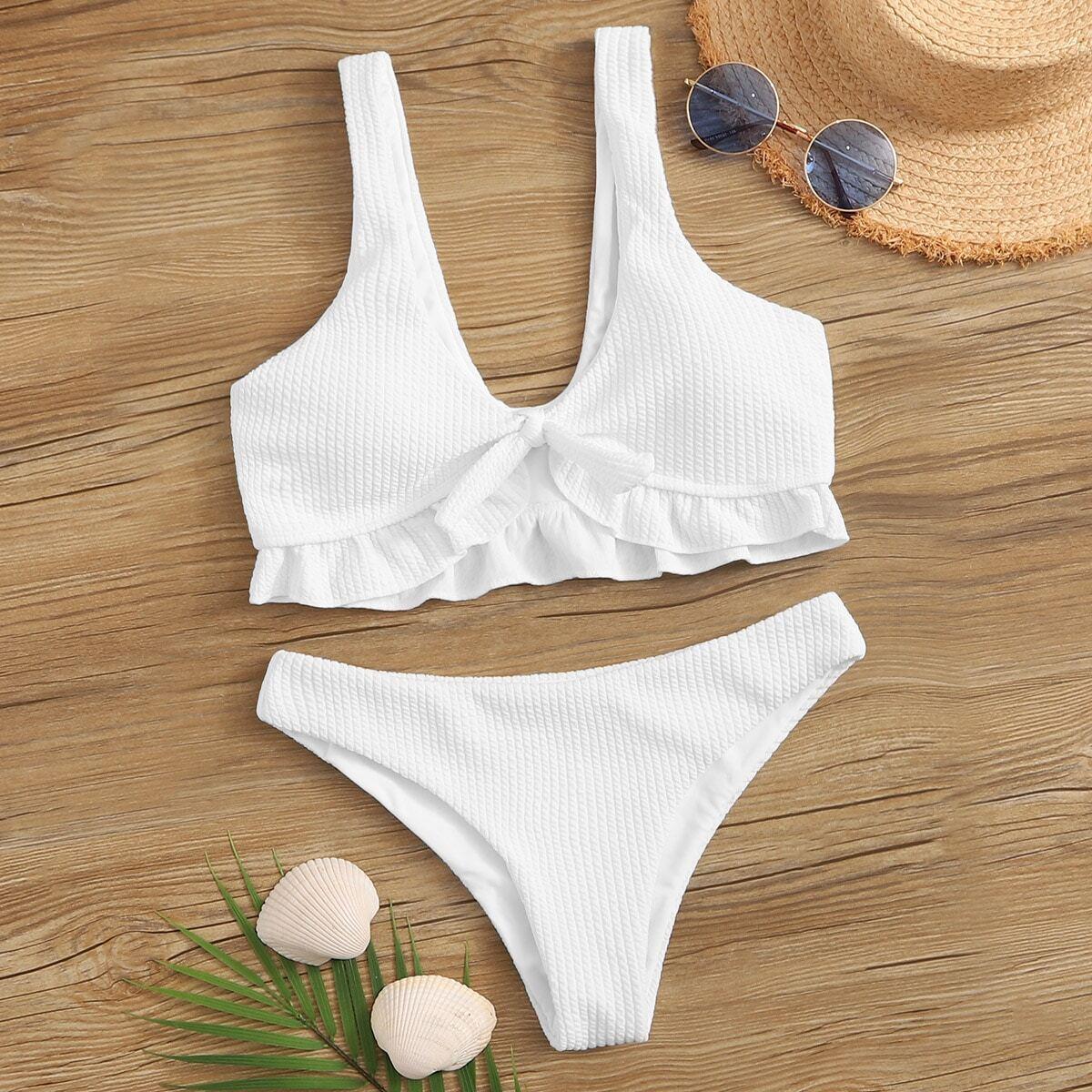 Knit Ruche Zoom Bikini Set
