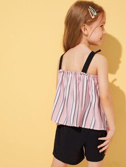 Фото 12 - Разноцветная полосатая блуза с разрезом от SheIn цвет многоцветный