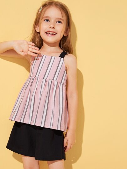 Фото 13 - Разноцветная полосатая блуза с разрезом от SheIn цвет многоцветный