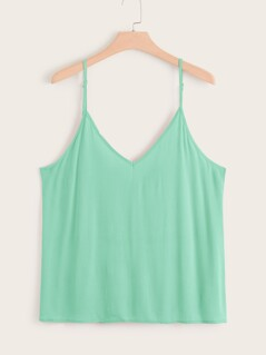 Plus Double V-neck Cami Top