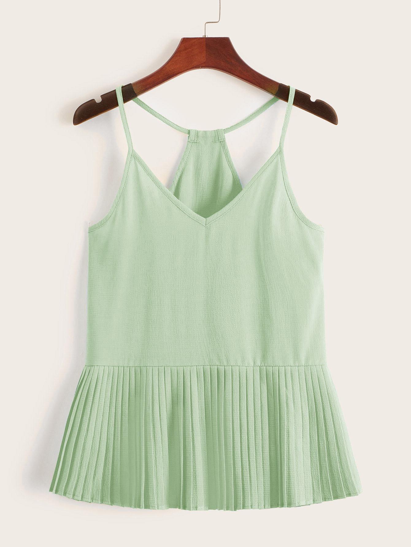 Фото 6 - Платье с поясом, вышивкой и глубоким V-образным вырезом от SheIn цвет белые