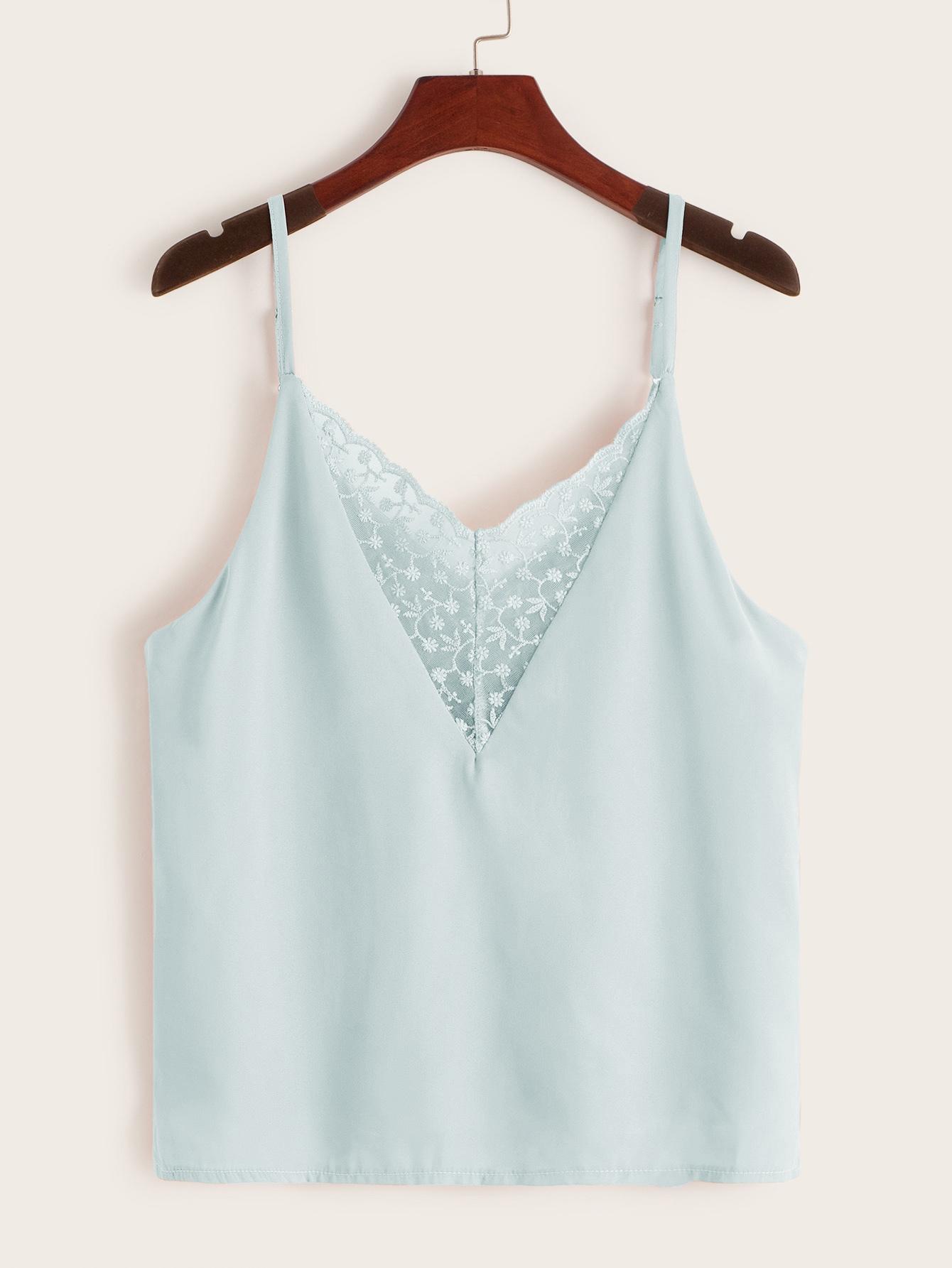 Фото - Кружевное платье с вышивкой, молнией и завязкой от SheIn цвет белые