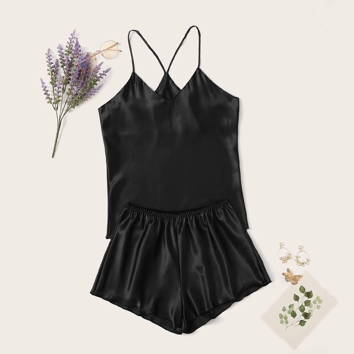 Zwart Casual Vlak Lounge kleding
