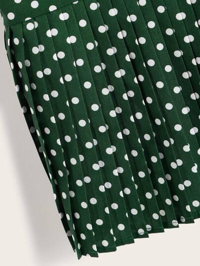 Фото 8 - Кружевное платье с вышивкой, молнией и завязкой от SheIn цвет белые