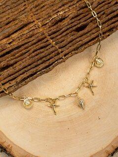 Seashell Beach Theme Charm Chain Necklace