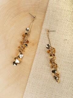 Clustered Hammer Disc Dangling Earrings