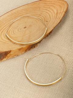 Thin Large Hoop Earrings