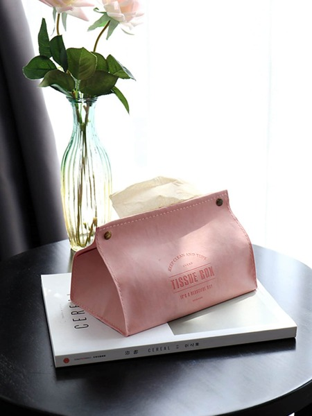 Plain Leather Tissue Box 1pc