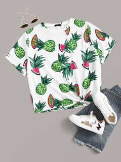 Plus Fruit Print Tee