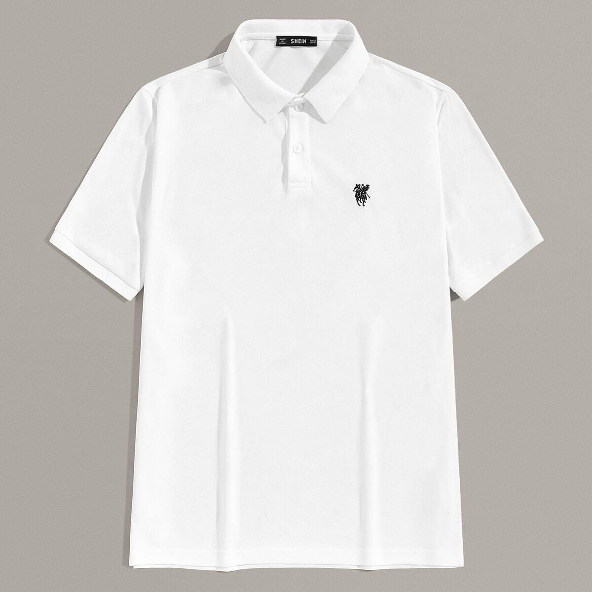 Wit Casual Poloshirts voor heren Borduurwerk