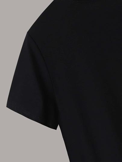 Фото 3 - Блестящий топ с воротником-бантом от SheIn серого цвета