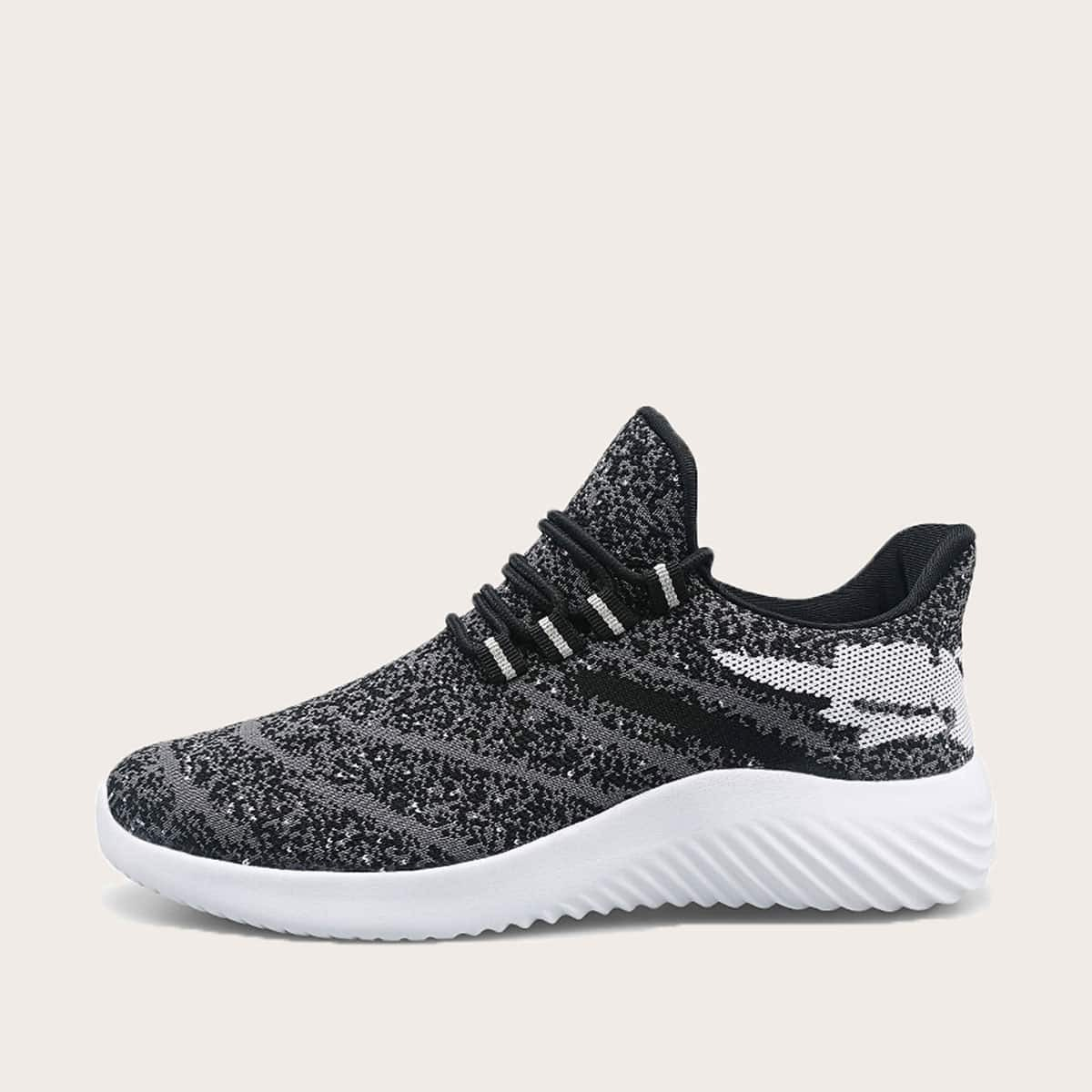 Grijs Sporten Kant Heren sneakers