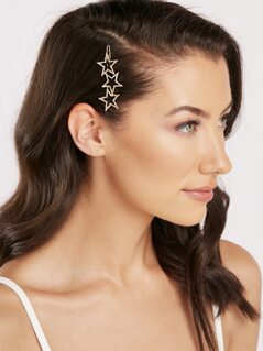 Cascade Rhinestone Crystal Star Single Hair Clip