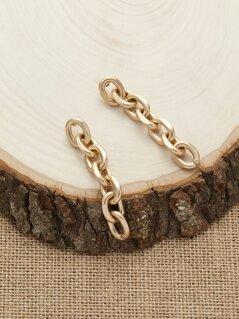 Matte Mini Chain Link Dangling Earrings