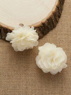 Cluster Mesh Dangling Flower Earrings
