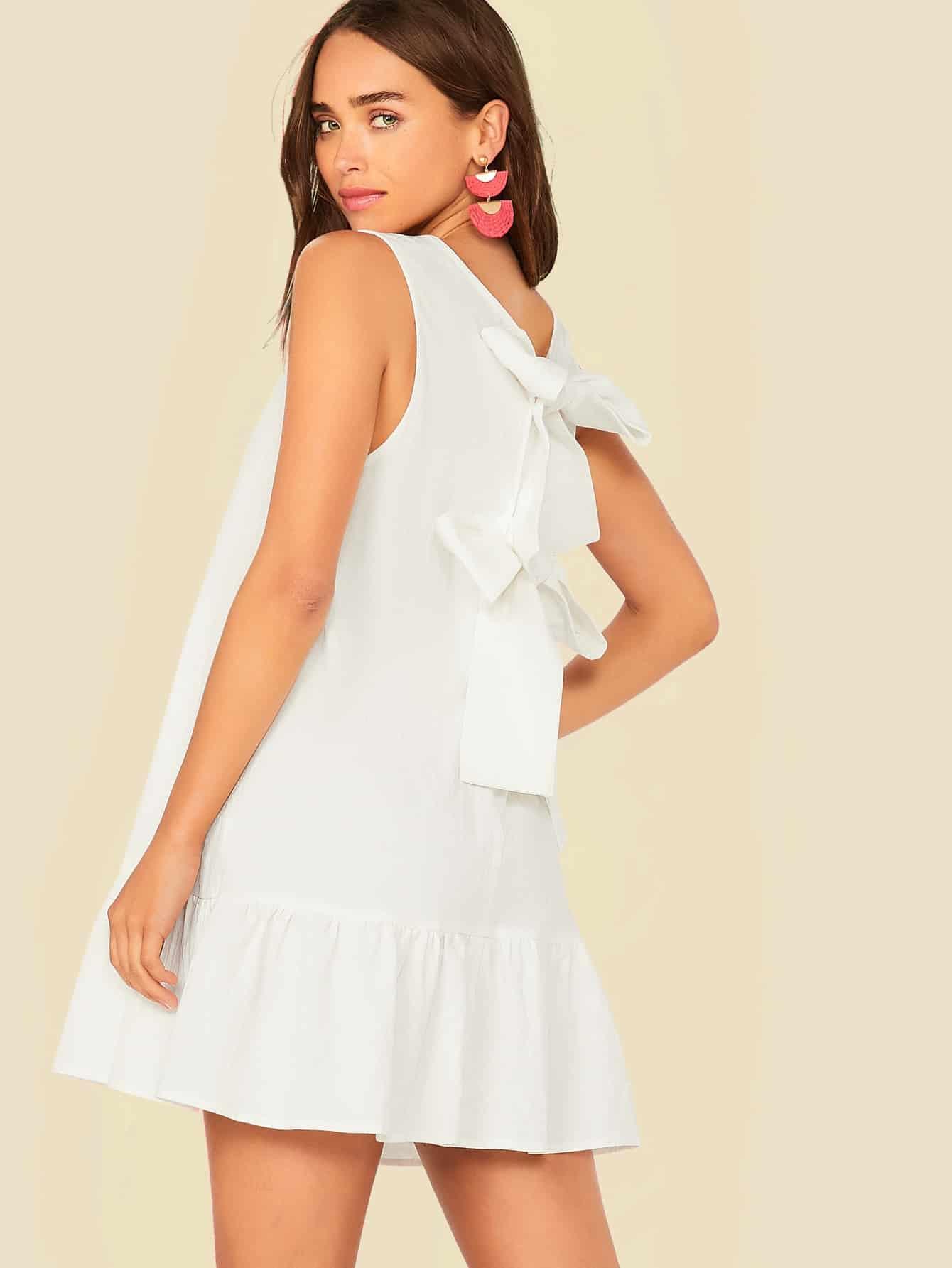 Фото 6 - Атласное платье с пышными рукавами и поясом от SheIn цвета хаки