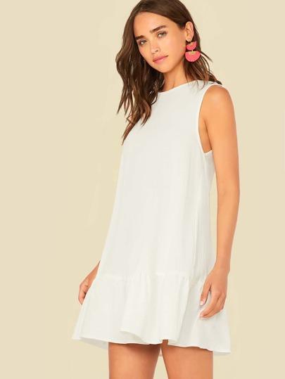 Фото 10 - Атласное платье с пышными рукавами и поясом от SheIn цвета хаки