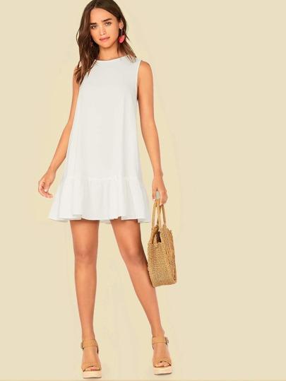 Фото 9 - Атласное платье с пышными рукавами и поясом от SheIn цвета хаки