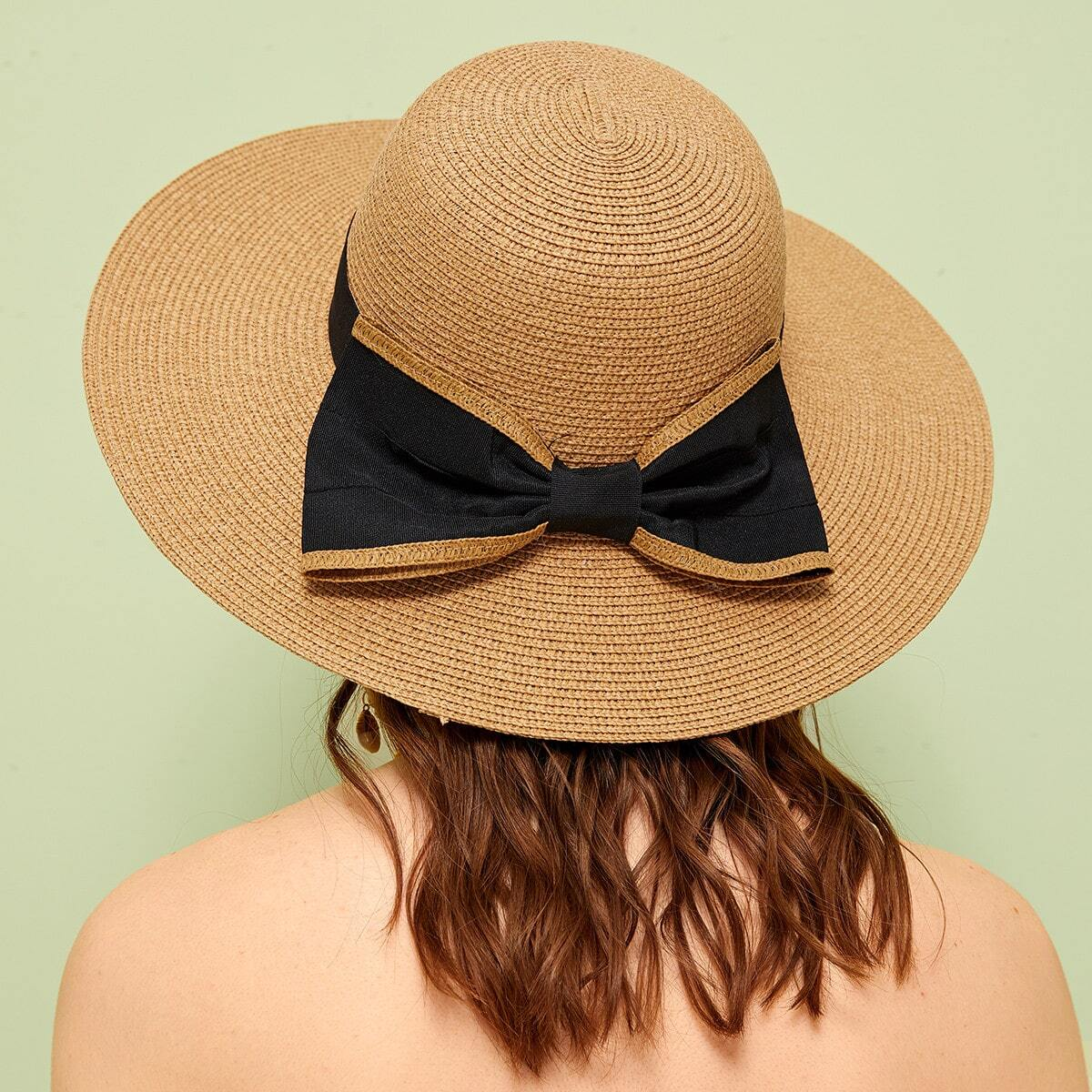 Шляпа С Широкими Полями И Бантом от SHEIN