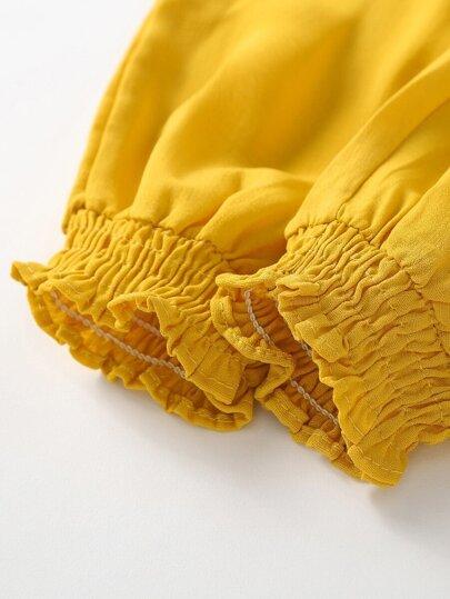 Фото 7 - Комплект нижнего женского белья с текстовым принтом от SheIn черного цвета