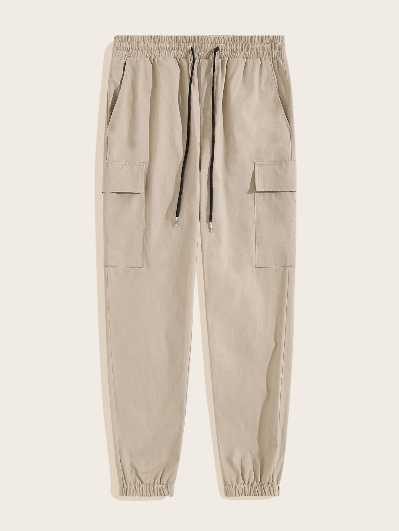 Фото - Мужские брюки с карманом и поясом от SheIn цвета хаки