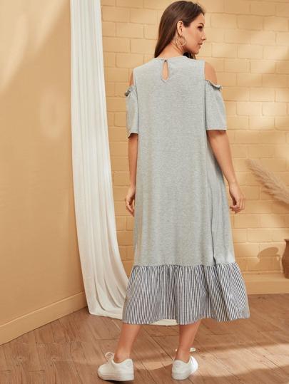 Фото 12 - Атласная пижама в горошек для девочек от SheIn цвет тёмно-синие