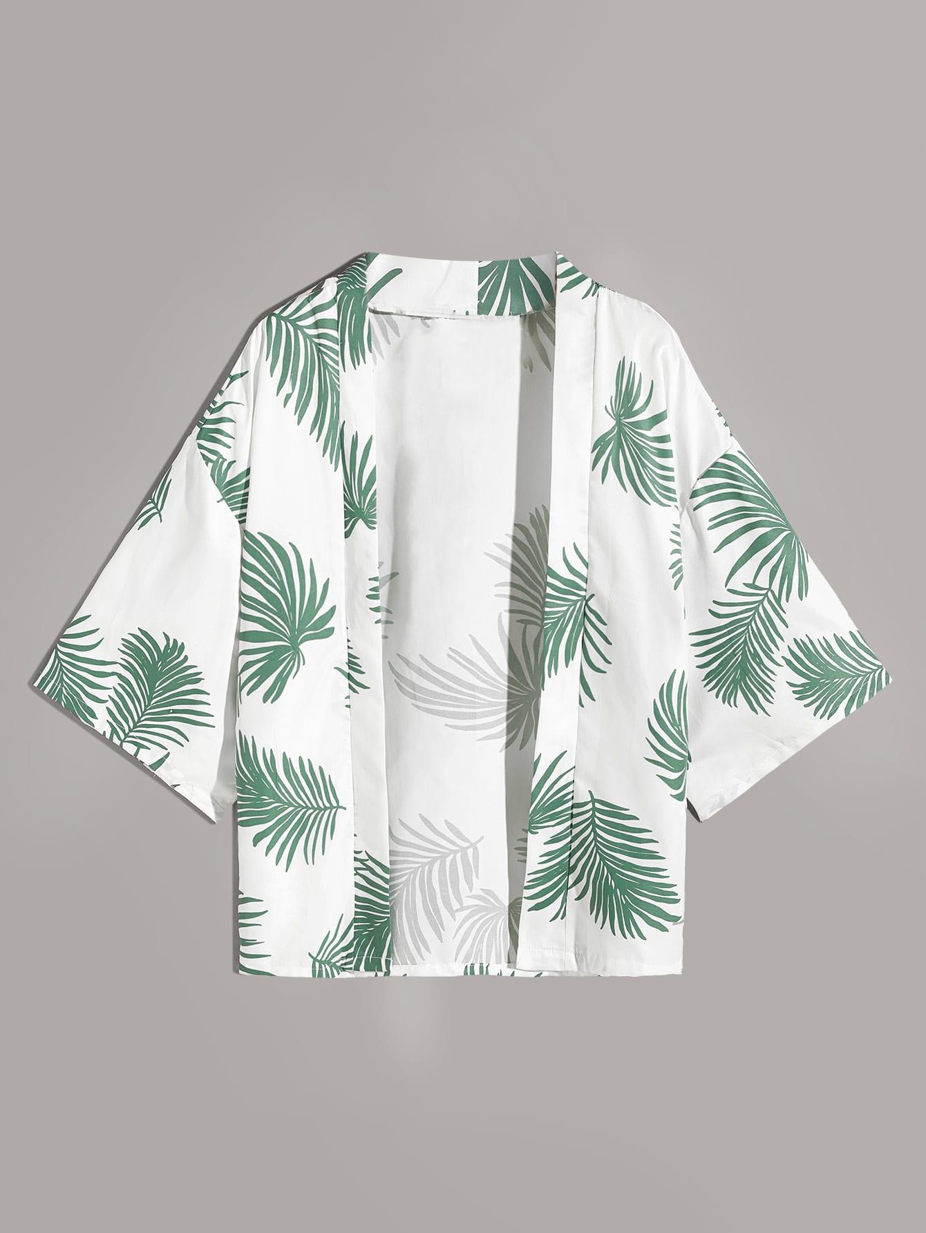 Фото - Многоцветный Тропический богимский Мужские рубашки от SheIn цвет многоцветный