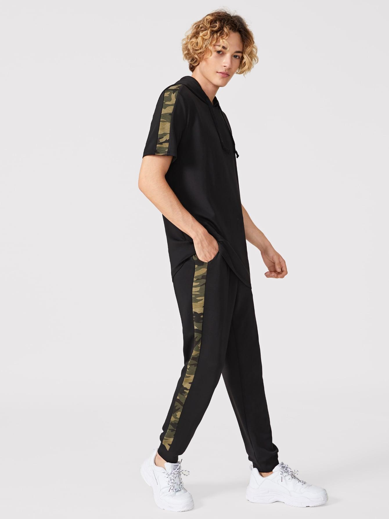 Фото - Мужские толстовка на кулиске и спортивные брюки от SheIn черного цвета