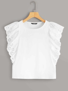 Schiffy Butterfly Sleeve Top