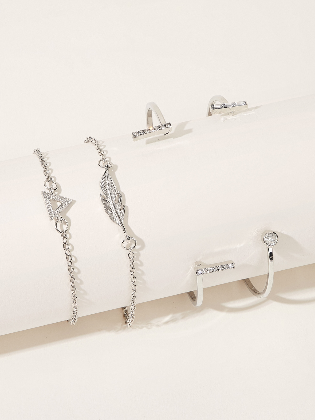 Фото - Модный браслет 4шт от SheIn цвет серебряные