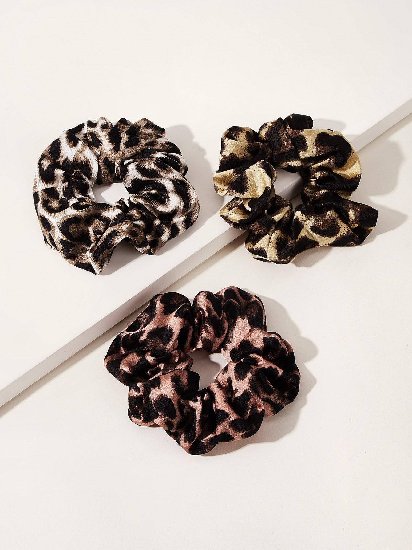Фото - Леопардовая резинка для волос 3шт от SheIn цвет многоцветный