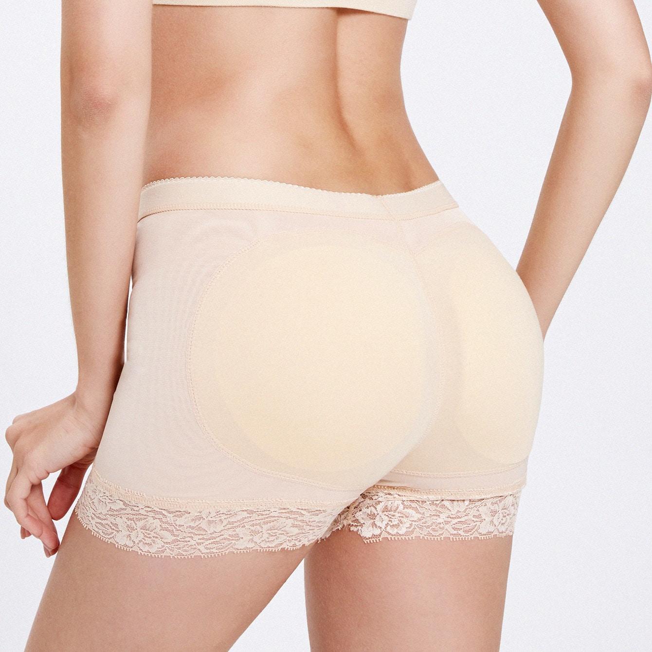 Geborduurde Shapewear Shorts met kanten afwerking