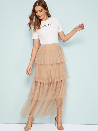 Фото 17 - Стильное платье с фестончатым краем от SheIn цвет чёрные