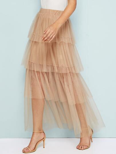 Фото 18 - Стильное платье с фестончатым краем от SheIn цвет чёрные