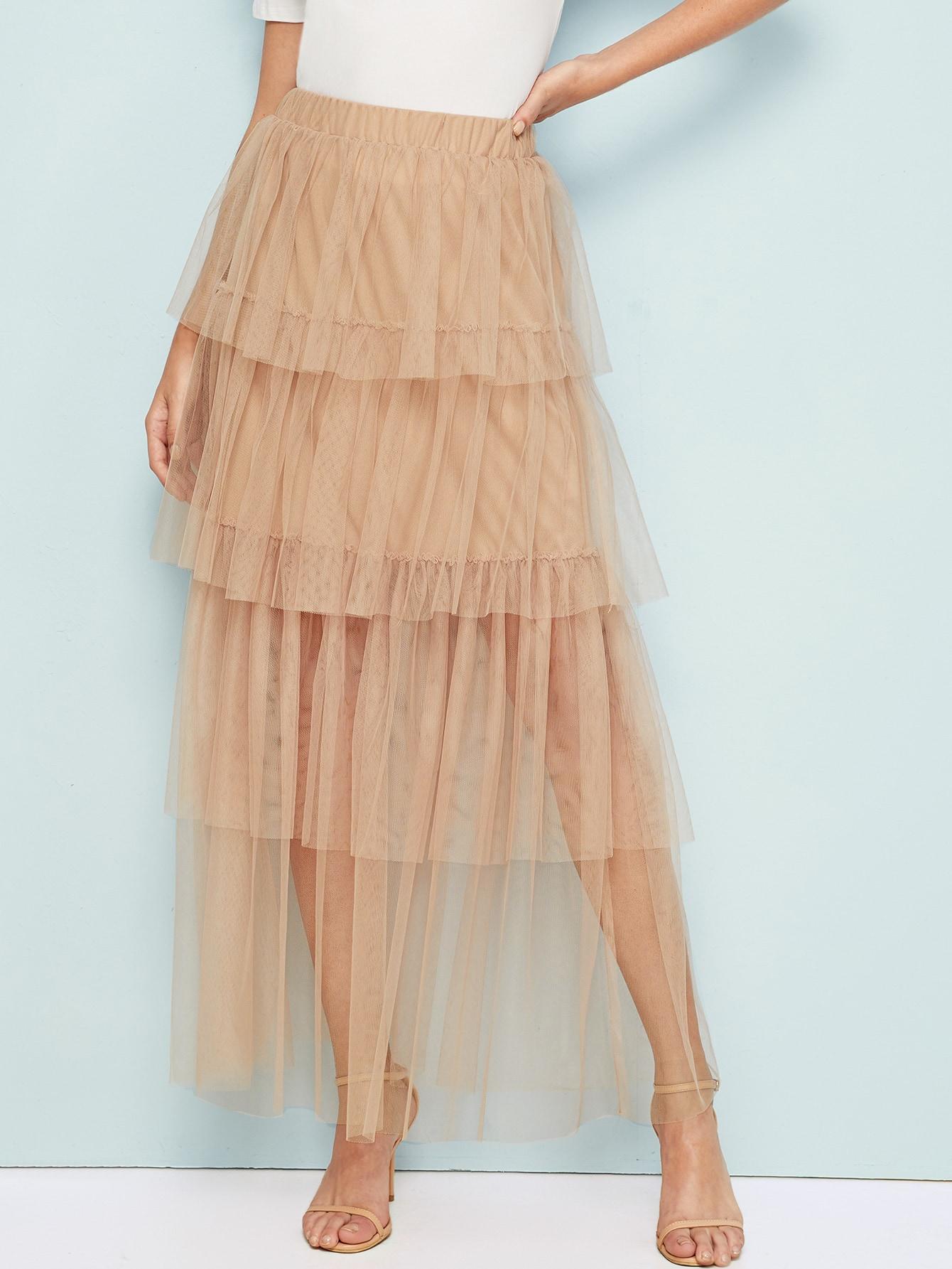 Фото 15 - Стильное платье с фестончатым краем от SheIn цвет чёрные