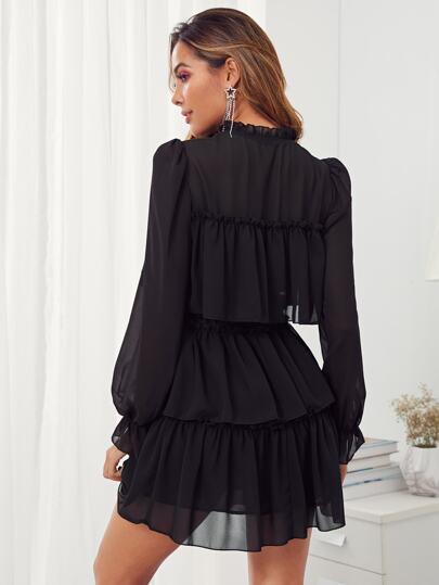 Фото 2 - Леопардовая расклешенная юбка с графическим принтом размера плюс от SheIn цвет многихцветные