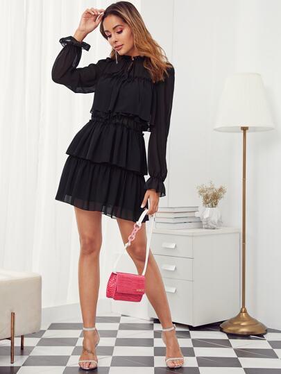 Фото 3 - Леопардовая расклешенная юбка с графическим принтом размера плюс от SheIn цвет многихцветные