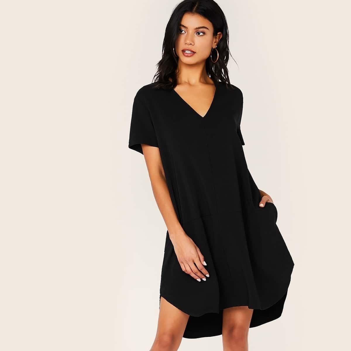 SHEIN / Kleid mit V Cut Ausschnitt