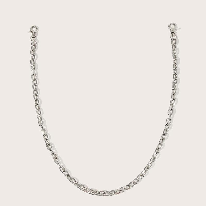 Guys Chain Waist Belt, Silver