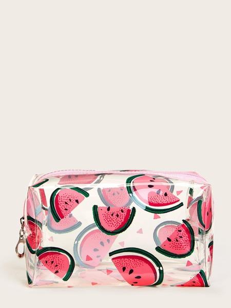 Watermelon Pattern Waterproof Makeup Bag