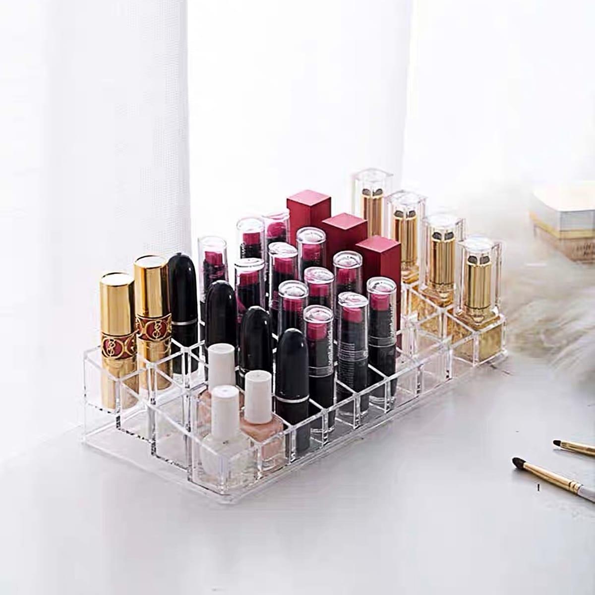 Transparante 36 Grid Lipstick opbergdoos