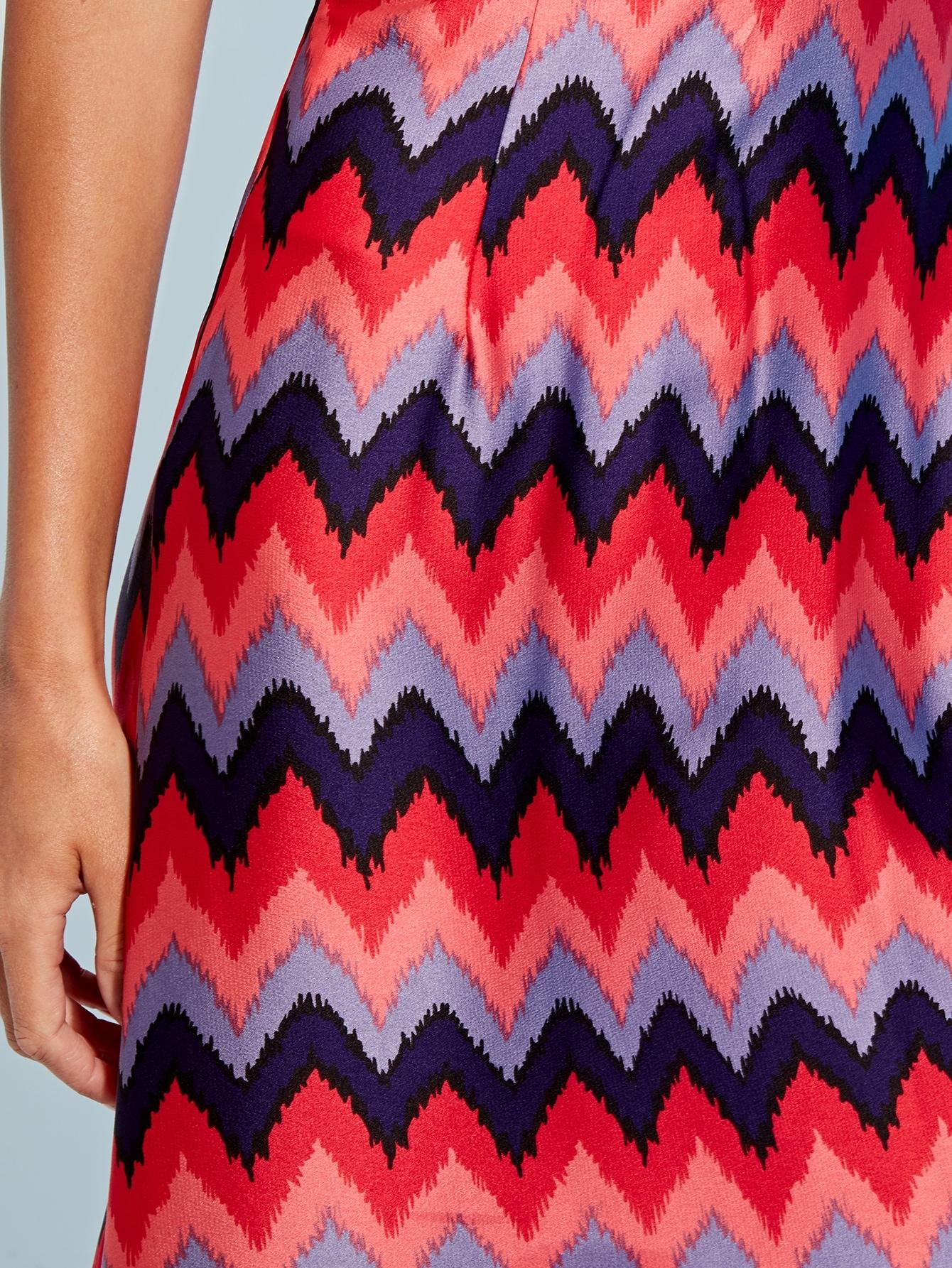 SHEIN / Falda de cintura alta con estampado