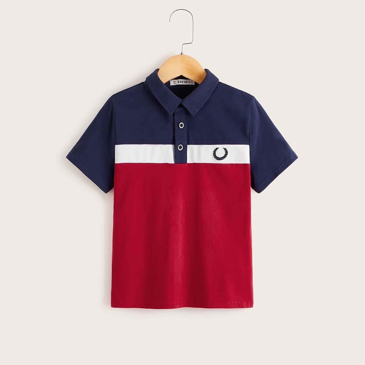 Veel kleurig Casual Poloshirts voor jongens Borduurwerk