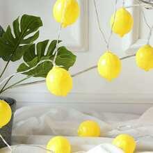 10pcs Lemon Shaped Bulb String Light