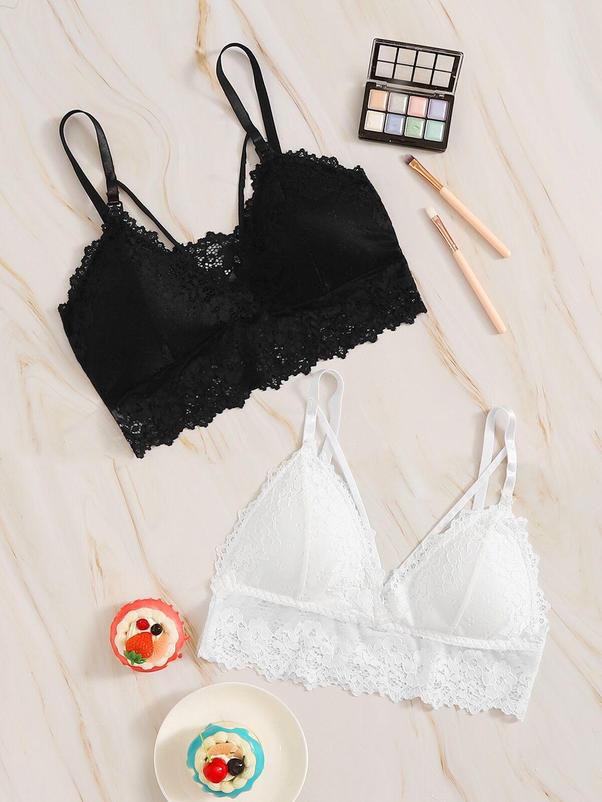 花樣蕾絲 胸罩 2pack